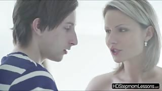 Lexi Donas amazing threesome with her horny stepmom and hot bf
