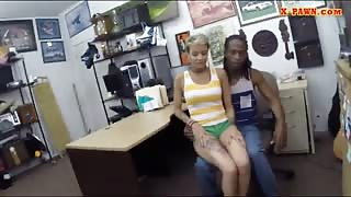 Black BF let the pawn guy fuck his short hair girlfriend