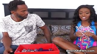 Ebony Babe Lexxi Deep Begs For Anal Fingering
