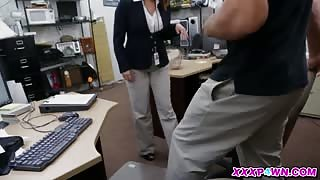 Hot Business Lady Strikes A Deal At The Pawnshop