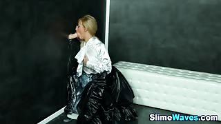 Glam fake cum drenched euro hoe