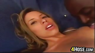 Cute Girl In Lingerie With A Black Cock