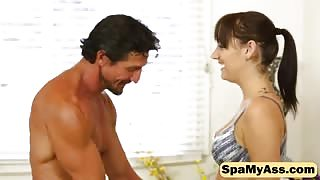 Tommy Gunn can't take his tongue off with cute brunette pussy