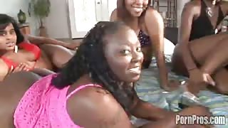 Ebony girl with juicy black ass is fucked from behind