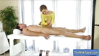 Sexy hot masseuse fucked by her client