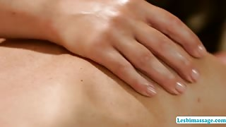 Sensual body massage satisfies lesbian sexual hunger lesbimassage.com