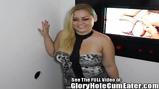 Big Titty Blonde Hollie Blows Strangers Through The Glory Hole