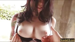 Tattooed ho Anne Lee screwed and cum facialed by stranger