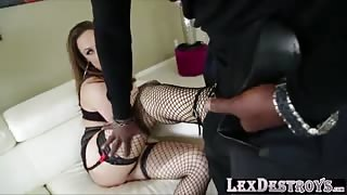 Sexy Brunette Chanel Preston gets destroyed by Lexington Steeles bbc