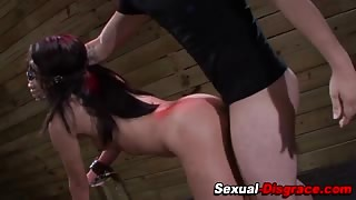 Bdsm slave slut throated and fucked