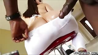 Italian babe Valentina Nappi ass screwed by large black dick