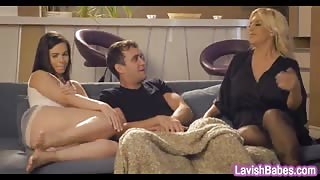 Karlee Grey enjoyed hard cock in her hairy pussy in bed