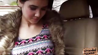 Stranded Czech Chick Lady D shares her body to a kind stranger