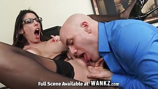 WANKZ - Office Hottie Dava Foxx Fucks Her Boss to Keep Her Job!
