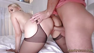 First rough sex and step mom fucks pal while dad is away Birthday