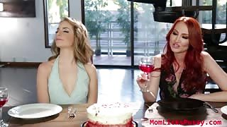 Horny milf Kendra James face sitting birthday gift, momlickspussy.com