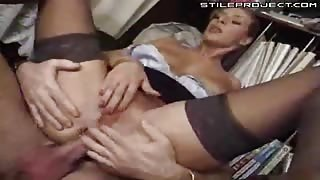 anal whore secretary fucked and double penetration and huge gapes