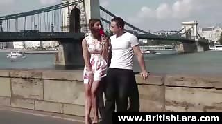 British lady in stockings gets her pussy licked by a younger guy