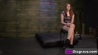 Redhead Teen Rose Red Roughly Filled From Behind