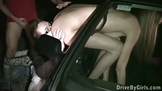 Kitty Jane PUBLIC car window gangbang with several random strangers