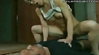 Japanese female soldier rapes her POW