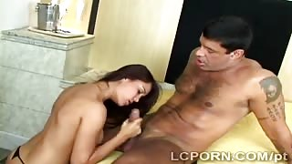 Perv spies Brazilian hottie fucking hard with hunky lover