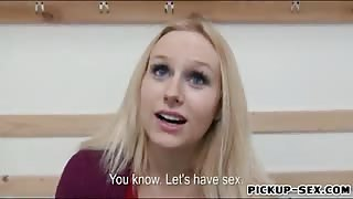 Hot big titted amateur Czech babe analyzed in skating rink