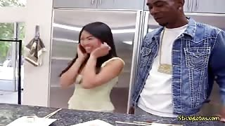 Asian Chick Cindy Starfall Is Shocked By A Black Cock