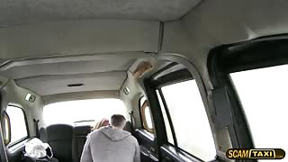 Blonde passenger gets banged and receives a sticky facial