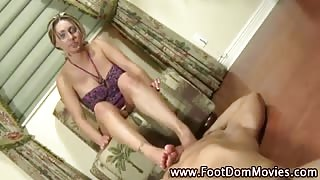 Sucked feet get rough on cock