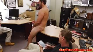 Straight dude masturbates in pawnshop