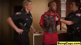 Big boobed cougar cops fucking one lucky black dude