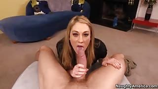 Amber Ashlee Blows And Nails Throbbing Dick