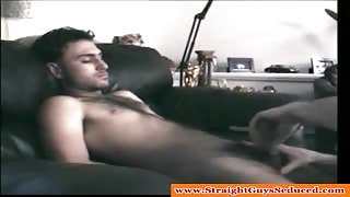 Straight dude loves receives a gay bj