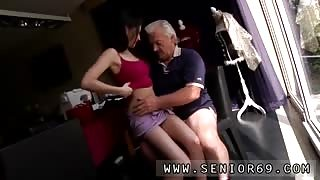 Old mature squirt Horny senior Bruce catches sight of a adorable lady