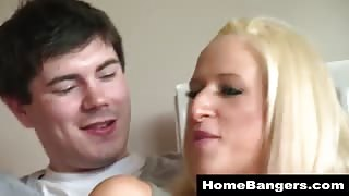 Cute blonde girlfriend fucked real hard
