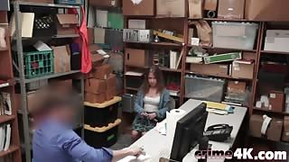Thief Brooke Bliss Takes Long Cock In Office