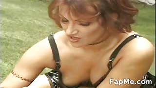 Slut shows off her cock sucking skills