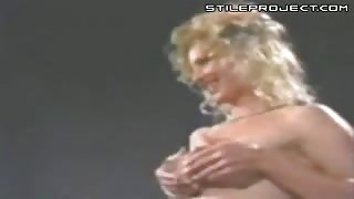 Titty Squeeze Blonde Sprays Breast Milk