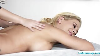 Beautiful ladies in a sensual foursome lesbian foreplay lesbimassage.com