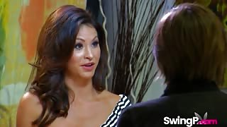 Sexy Young Wife Agrees To Participate In Swinger Orgy In Front Of Cameras